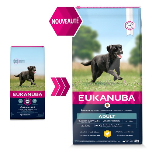 Alimentation pour chien - Eukanuba Active Adult Large Giant Breed - Poulet pour chiens