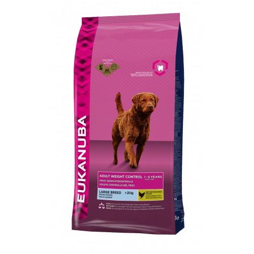 Alimentation pour chien - Eukanuba Adult Weight Control Large Breed - Poulet pour chiens