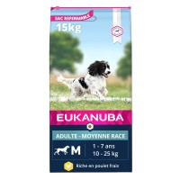Croquettes pour chien - Eukanuba Active Adult Medium Breed Active Adult Medium Breed - Poulet