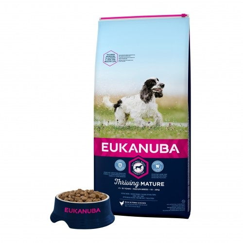 Alimentation pour chien - Eukanuba Thriving Mature Medium Breed - Poulet pour chiens