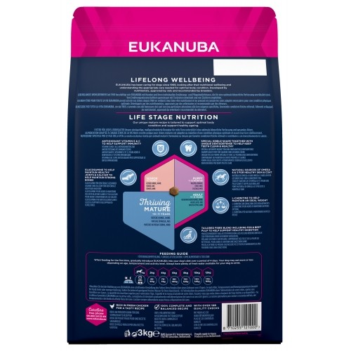 Alimentation pour chien - Eukanuba Thriving Mature Small Breed - Poulet pour chiens