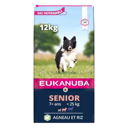 Boutique senior - Eukanuba Senior Small & Medium Breed - Agneau & riz pour chiens