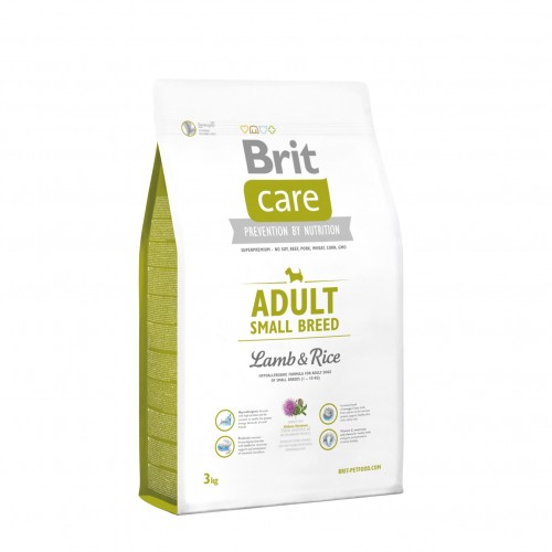 Croquettes pour chien - BRIT-CARE Adult Small Breed Lamb & Rice