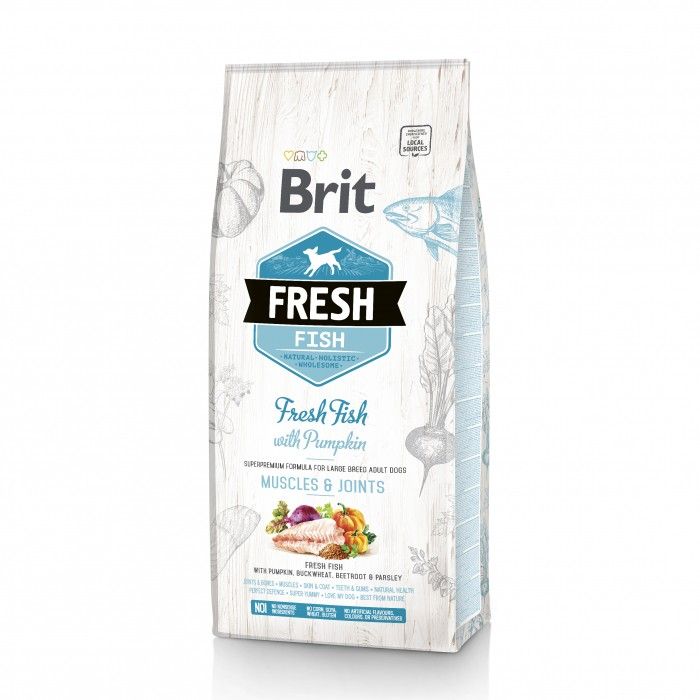 Alimentation pour chien - Brit Fresh Muscles & Joints - Adult Large pour chiens