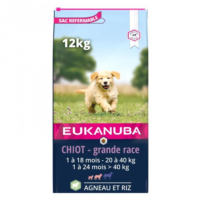 Alimentation pour chien - Eukanuba Puppy & Junior Large Breed - Agneau et riz pour chiens