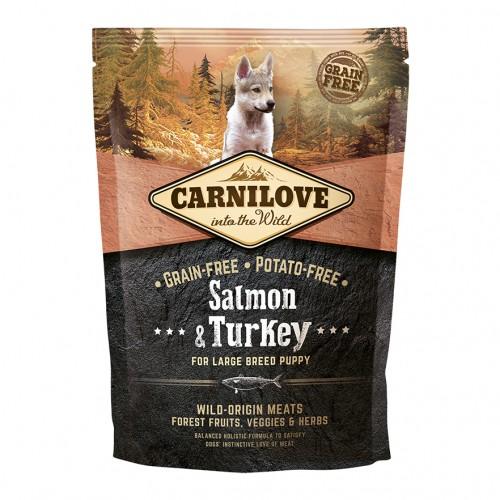 Alimentation pour chien - CARNILOVE Puppy Large Saumon & dinde pour chiens