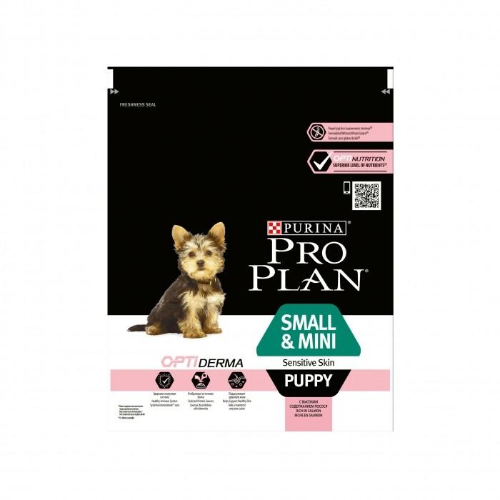 purina proplan croquettes pour chien small mini puppy sensitive skin optiderma saumon wanimo