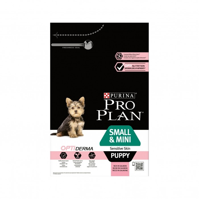 Alimentation pour chien - PURINA PROPLAN Small & Mini Puppy Sensitive Skin OptiDerma Saumon pour chiens