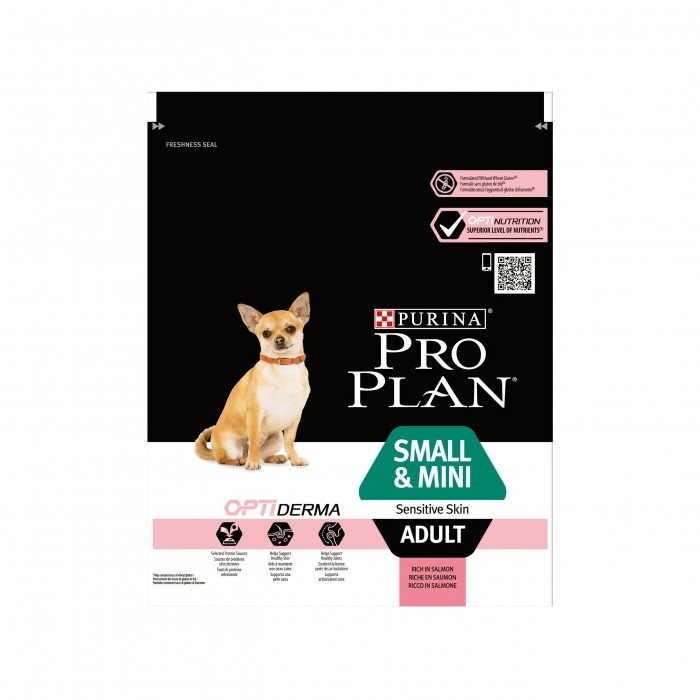 Alimentation pour chien - PURINA PROPLAN Small & Mini Adult Sensitive Skin OptiDerma Saumon pour chiens