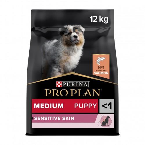 Alimentation pour chien - PURINA PROPLAN Medium Puppy Sensitive Skin OptiDerma Saumon pour chiens