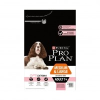Croquettes pour chien - PURINA PROPLAN Medium & Large Adult 7+ Sensitive Skin OptiDerma Saumon