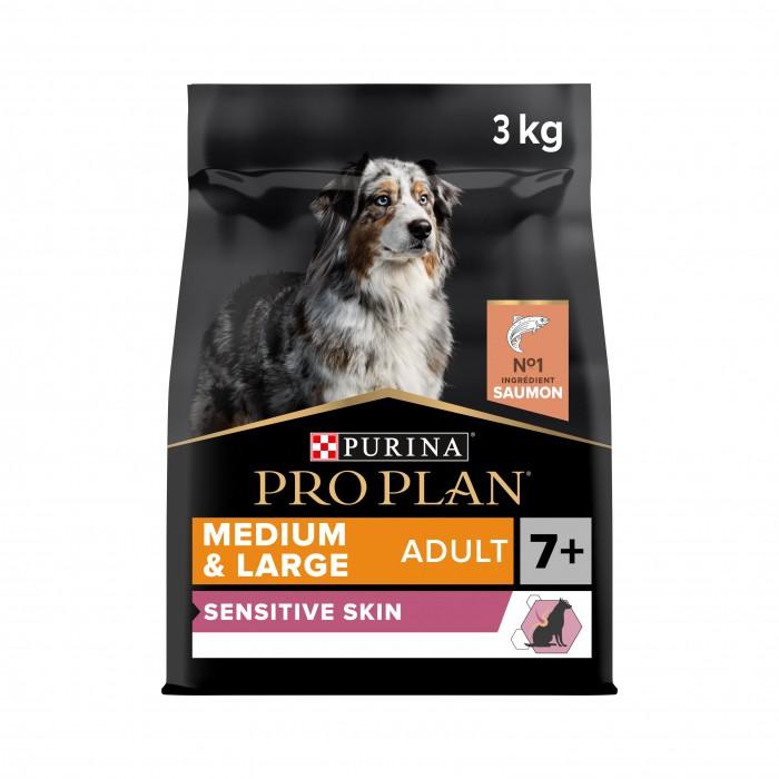 Alimentation pour chien - PURINA PROPLAN Medium & Large Adult 7+ Sensitive Skin OptiDerma Saumon pour chiens