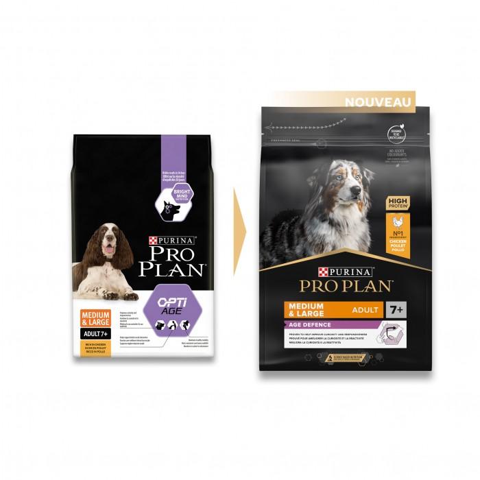 Alimentation pour chien - PURINA PROPLAN Medium & Large Adult 7+ OptiAge Poulet pour chiens