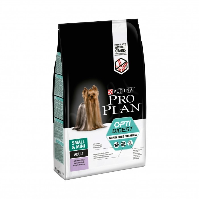 Alimentation pour chien - PURINA PROPLAN Small & Mini Adult Grain Free OptiDigest pour chiens