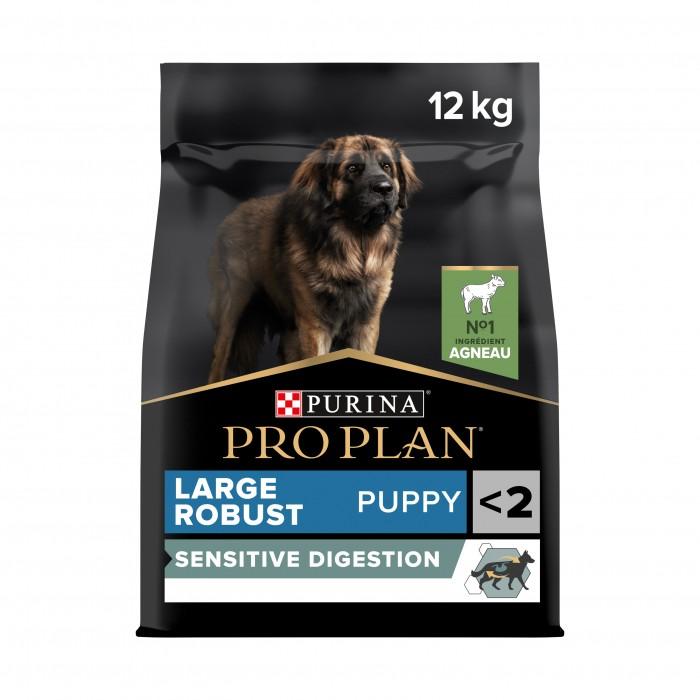 Alimentation pour chien - PURINA PROPLAN Large Robust Puppy Sensitive Digestion OptiDigest pour chiens