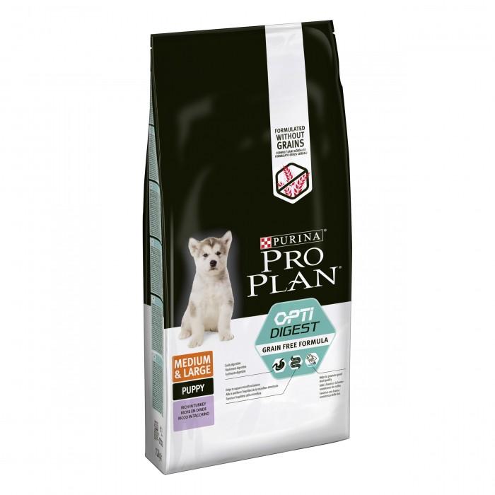 Alimentation pour chien - PURINA PROPLAN Medium & Large Puppy - OptiDigest Sans Céréales pour chiens