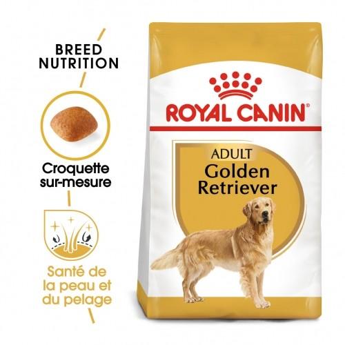 Alimentation pour chien - Royal Canin Golden Retriever Adult - Croquettes pour chien pour chiens