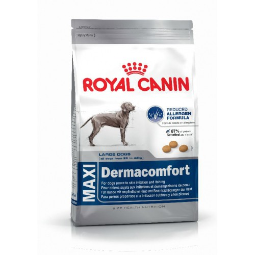 royal canin size nutrition croquettes pour chien maxi dermaconfort wanimo. Black Bedroom Furniture Sets. Home Design Ideas
