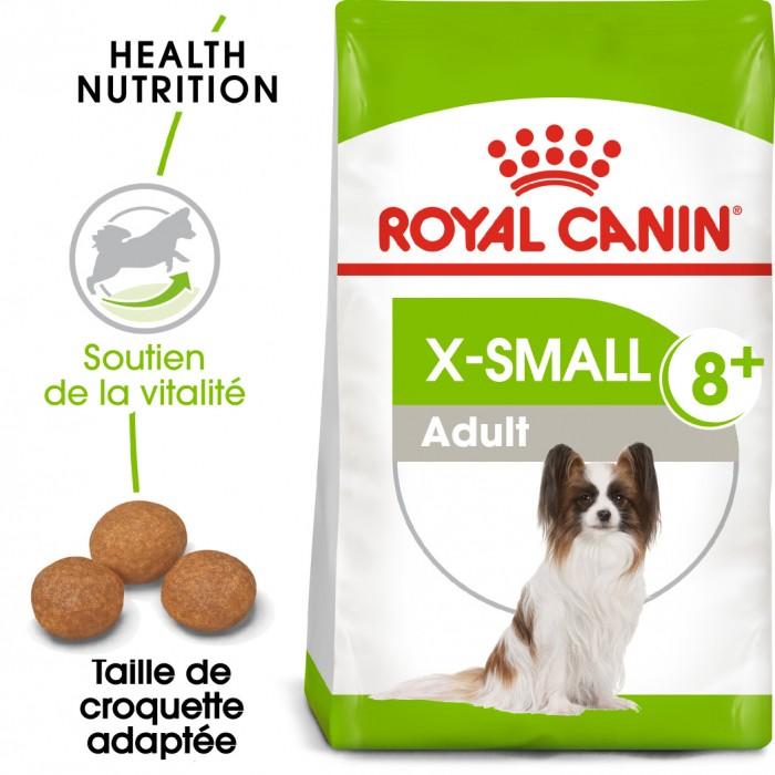 Alimentation pour chien - Royal Canin X-Small Adult 8+ pour chiens