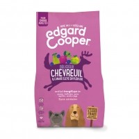 Croquettes pour chien - Edgard & Cooper, Délicieux chevreuil et canard pour chien Adulte - Chevreuil frais et canard plein air - Sans céréales
