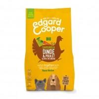 Croquettes pour chien - Edgard & Cooper Bio, Savoureux dinde et poulet pour chien Adulte - Dinde et poulet frais Bio