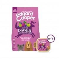 Croquettes et pâtées pour chien - Edgard & Cooper, Pack découverte au chevreuil pour chien Pack découverte - Chevreuil frais et canard plein air - Sans céréales