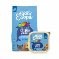 Croquettes et pâtées pour chien - Edgard & Cooper Pack Découverte Spécial Beau Poil - Saumon - Sans céréales