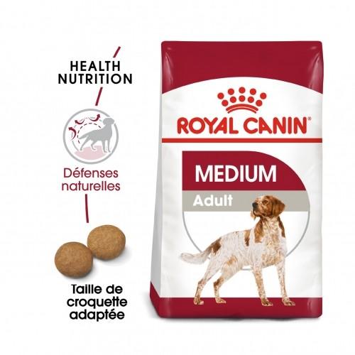 Alimentation pour chien - Royal Canin Medium Adult - Croquettes pour chien pour chiens