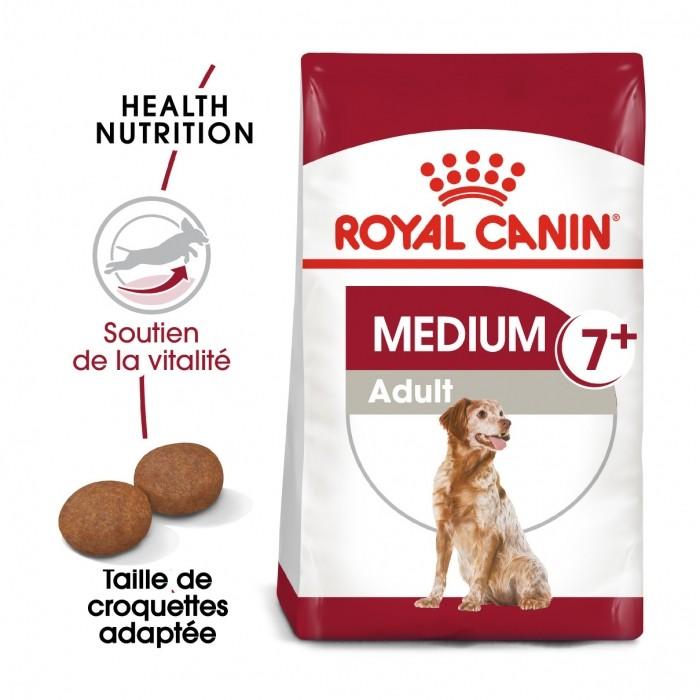 Alimentation pour chien - Royal Canin Medium Adult 7+ pour chiens