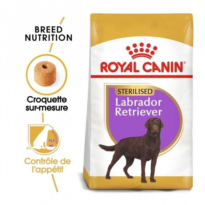 Alimentation pour chien - Royal Canin Labrador Retriever Sterilised Adult - Croquettes pour chien pour chiens
