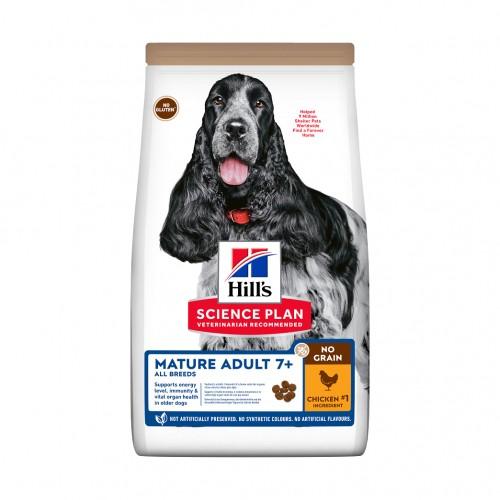 Alimentation pour chien - Hill's Science Plan No Grain Large Mature Adult 7+ pour chiens