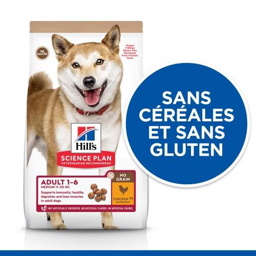 Alimentation pour chien - Hill's Science Plan No Grain Medium Adult pour chiens
