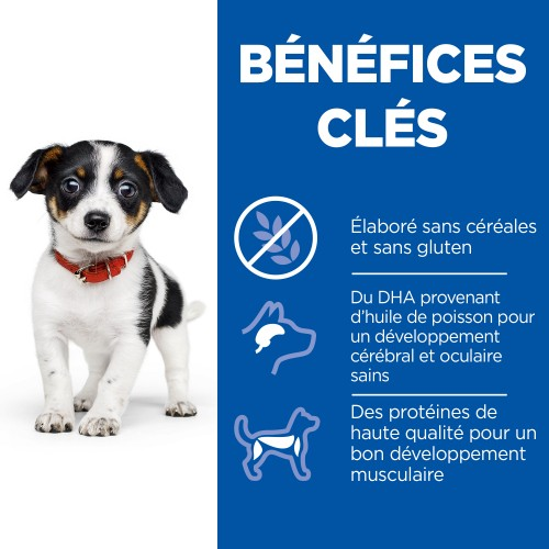 Alimentation pour chien - Hill's Science Plan No Grain Small & Medium Puppy pour chiens