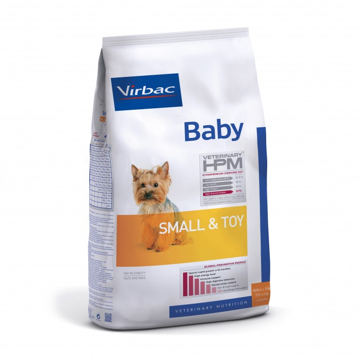 Alimentation pour chien - VIRBAC VETERINARY HPM Physiologique Baby Small & Toy pour chiens