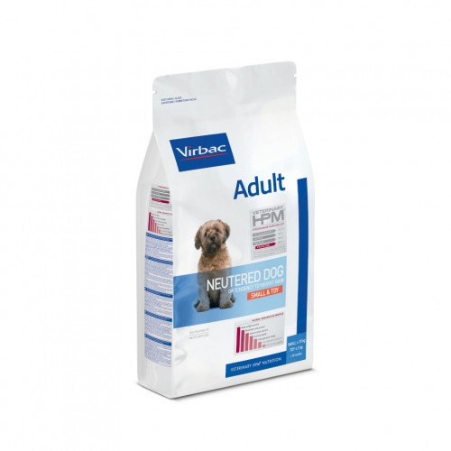 Alimentation pour chien - VIRBAC VETERINARY HPM Physiologique Adult Neutered Dog Small & Toy pour chiens