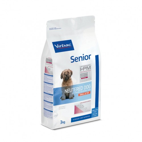 Alimentation pour chien - VIRBAC VETERINARY HPM Physiologique Senior Neutered Dog Small & Toy pour chiens