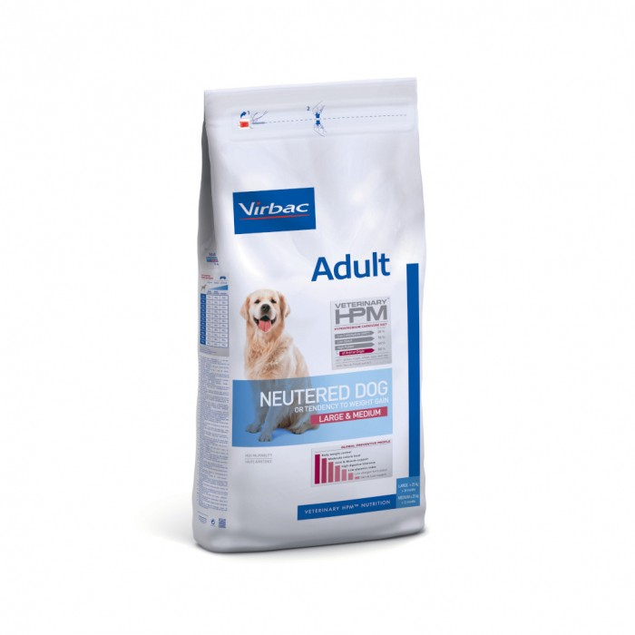 VIRBAC VETERINARY HPM Physiologique Adult Neutered Dog Medium & Large-Adult Neutered Dog Medium & Large