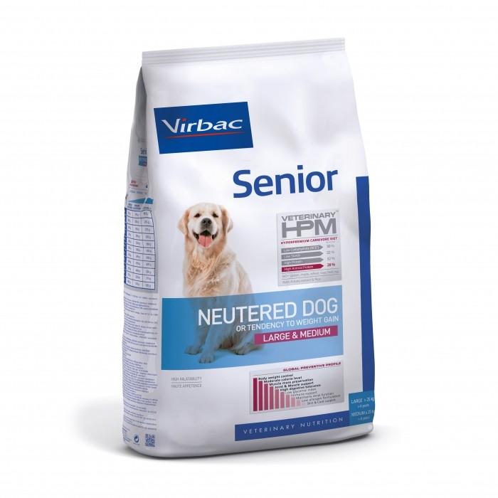 Alimentation pour chien - VIRBAC VETERINARY HPM Physiologique Senior Neutered Dog Medium & Large pour chiens
