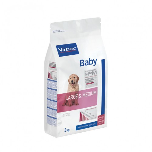 Croquettes pour chiot - VIRBAC VETERINARY HPM Physiologique Baby Medium & Large