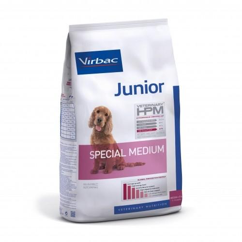 Alimentation pour chien - VIRBAC VETERINARY HPM Physiologique Junior Special Medium pour chiens