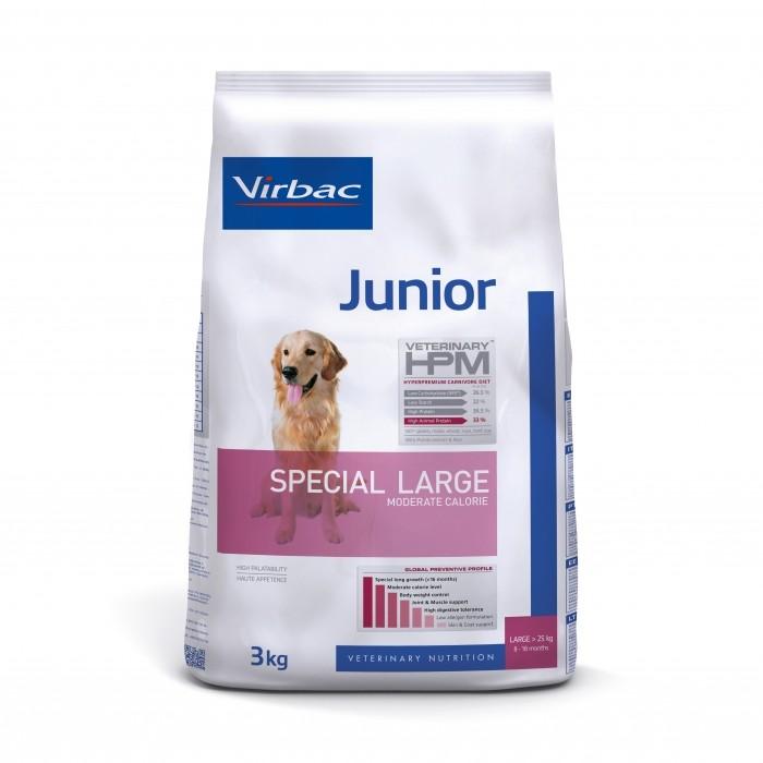 Alimentation pour chien - VIRBAC VETERINARY HPM Physiologique Junior Special Large pour chiens