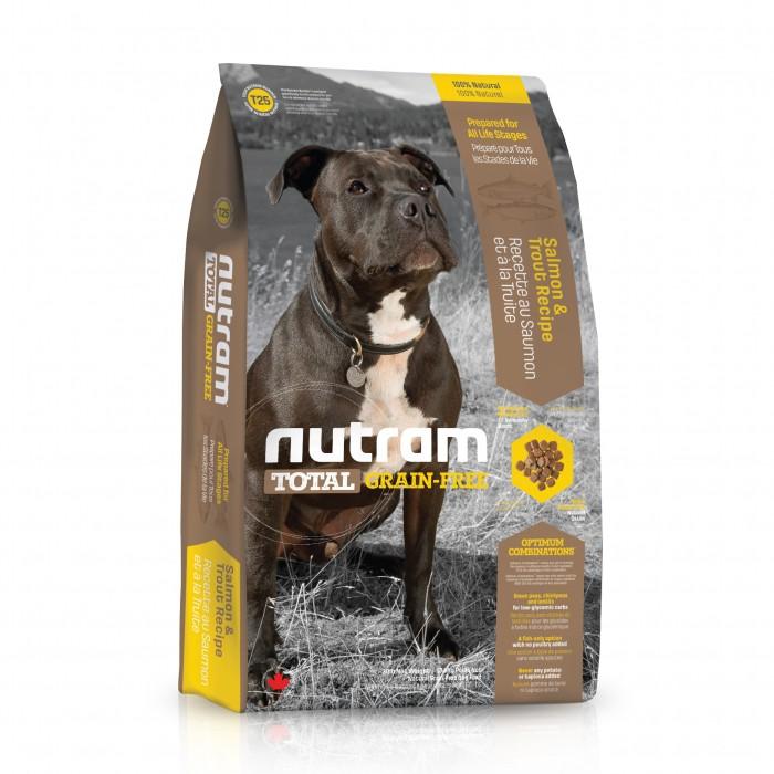 t25 nutram total croquettes pour chien grain free saumon truite wanimo. Black Bedroom Furniture Sets. Home Design Ideas