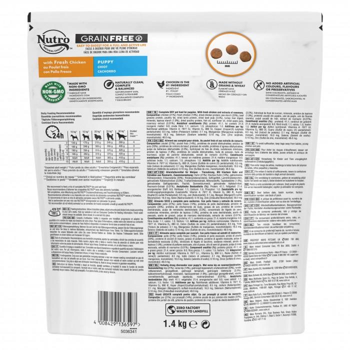 Alimentation pour chien - Nutro Grain Free moyen chiot au poulet frais pour chiens