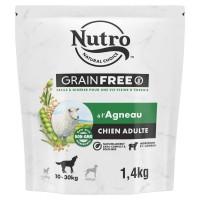 Croquettes pour chien - Nutro Grain Free moyen chien adulte à l'agneau Nutro