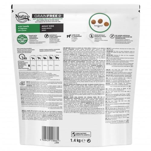 Alimentation pour chien - Nutro Grain Free moyen chien adulte à l'agneau pour chiens
