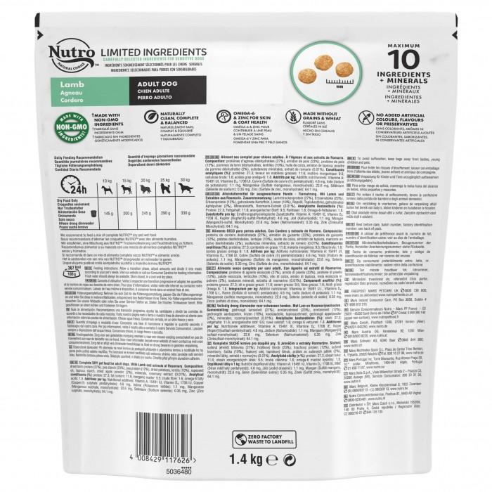 Alimentation pour chien - Nutro Limited Ingredients moyen chien adulte à l'agneau pour chiens
