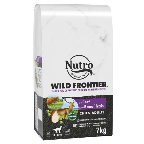 Alimentation pour chien - Nutro Wild Frontier moyen chien adulte au cerf et bœuf frais pour chiens