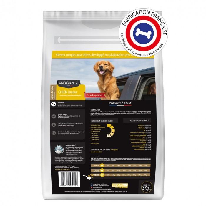 Alimentation pour chien - PRÉFÉRENCE NUTRITION Chien Joueur pour chiens