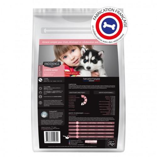 Alimentation pour chien - PRÉFÉRENCE NUTRITION Chien Junior pour chiens