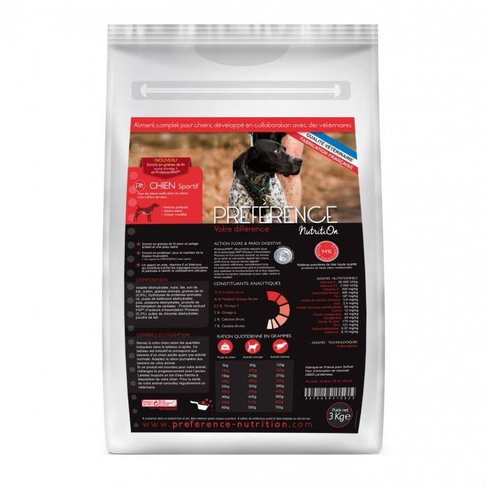 Alimentation pour chien - PRÉFÉRENCE NUTRITION Chien Sportif pour chiens